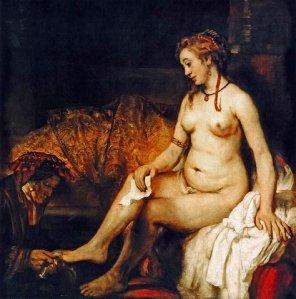Bathsheba at Her Bath, Rembrandt, 1654